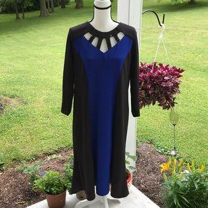 1X Slinky Brand Elegant Knee Length Dress